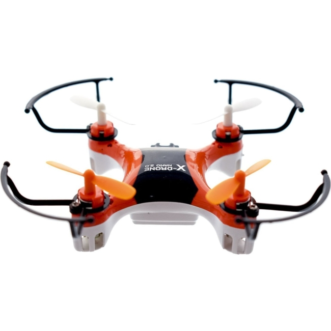 MyePads X-Drone Nano 2.0 Aerial R/C Drone Quadcopter with Protectors - Orange