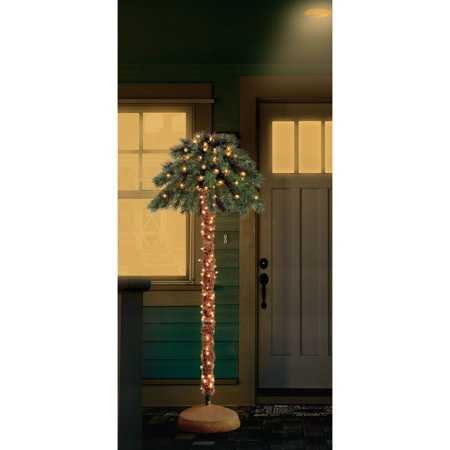 Holiday Time Artificial Christmas Trees Pre-Lit 6' Palm Artificial Tree,  Clear Lights - Holiday Time Artificial Christmas Trees Pre-Lit 6' Palm Artificial