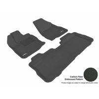 3D MAXpider Stylish Custom Fit All Weather Floor Mats for 2010-2017 Chevrolet Equinox Front & Second Row in Black with Carbon Fiber Look