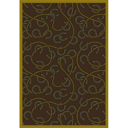Joy Carpets 1512C-04 Rodeo Chocolate 5 ft.4 in. x 7 ft.8 in. 100 Pct. STAINMASTER Nylon Machine Tufted- Cut Pile Whimsy Rug