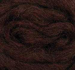 "Wool Roving 12"" .22oz-Chocolate"