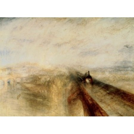 Rain Steam and Speed The Great Western Railway 1844 Joseph Mallord William Turner Oil on Canvas National Gallery London Poster