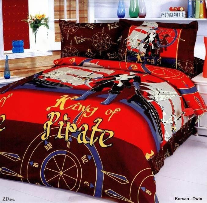 4 Pc Twin Korsan Duvet Cover Bedding Set