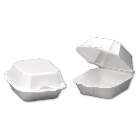 Genpak 1-Comp Foam Sandwich Containers, Large, White, 500 count](Sandwich Platter Containers)