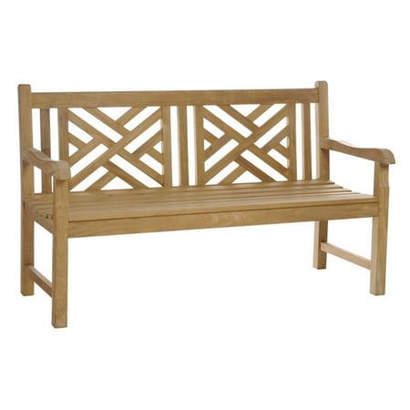 Chic Teak Chippendale Teak Outdoor Bench ()