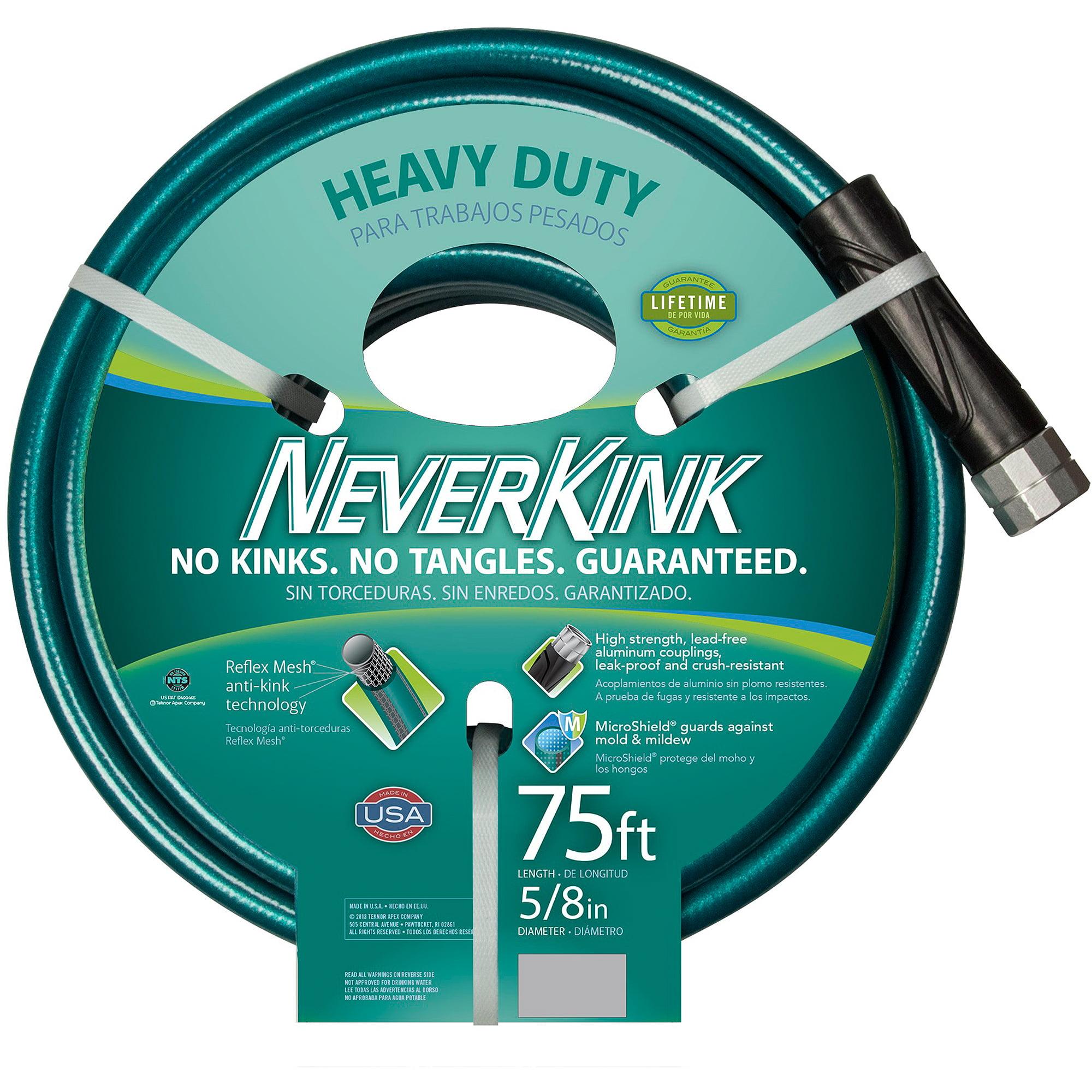 Teknor Apex Neverkink Hose, 75', Teal/Grey