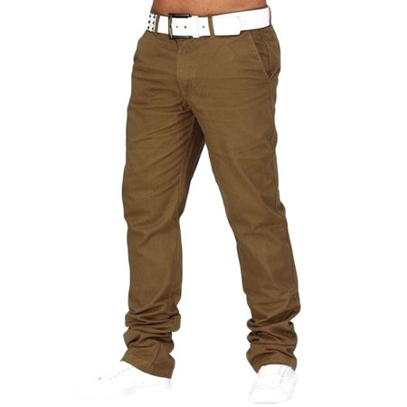 Chino Mens Casual Regular Trousers Business Cargo Pants