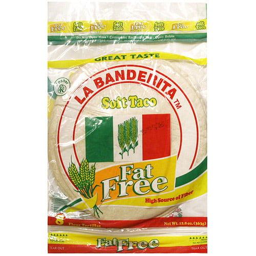La Banderita Fat Free Soft Taco Tortillas, 12.7 oz (Pack of 12)