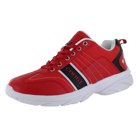 coogi  chambers mens athletic shoes casual sneakers red