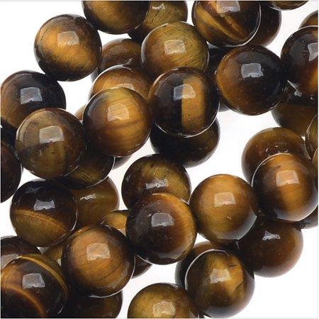 Tiger Eye Gemstone Beads - Tiger Eye Gemstone Beads Grade AA, 4mm Round, 15.5 Inch Strand, Brown