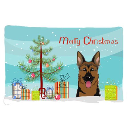 Carolines Treasures BB1583PILLOWCASE Christmas Tree & German Shepherd Fabric Standard Pillowcase - image 1 of 1
