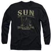 Sun Records Rockabilly Bird Mens Long Sleeve Shirt