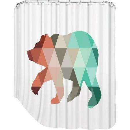Brayden Studio Melinda Wood Bear Shower Curtain