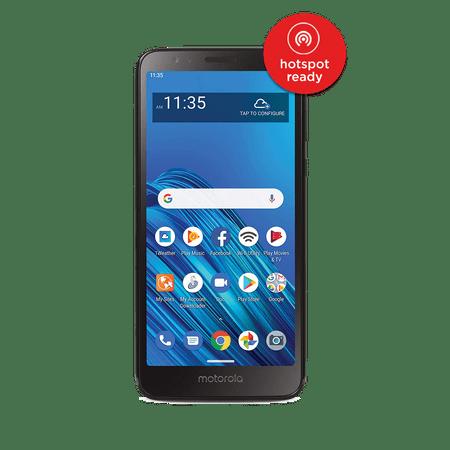 Motorola Straight Talk Moto E6, 16 GB Black - Prepaid Smartphone