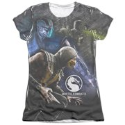Mortal Kombat X Three Of A Kind (Front Back Print) Juniors Sublimation Shirt