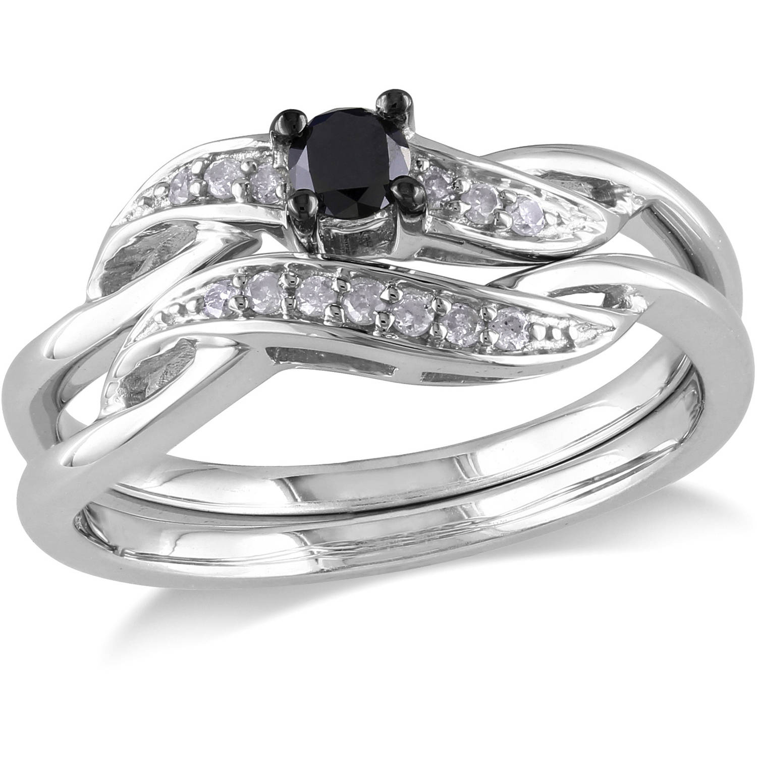 and diamond unusual black rings gold white ring engagement
