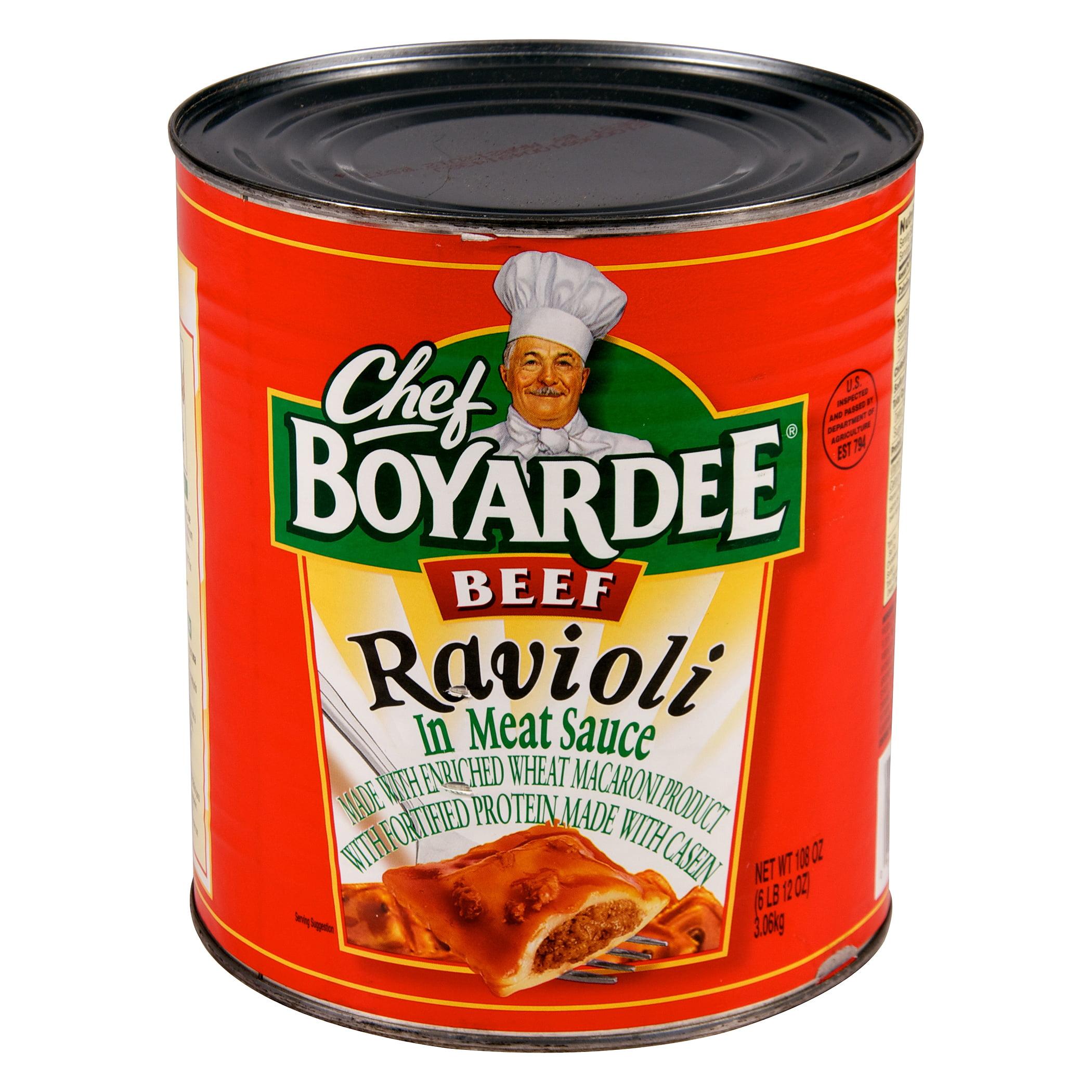 Chef Boyardee In Tomato & Meat Sauce Beef Ravioli, 108 oz