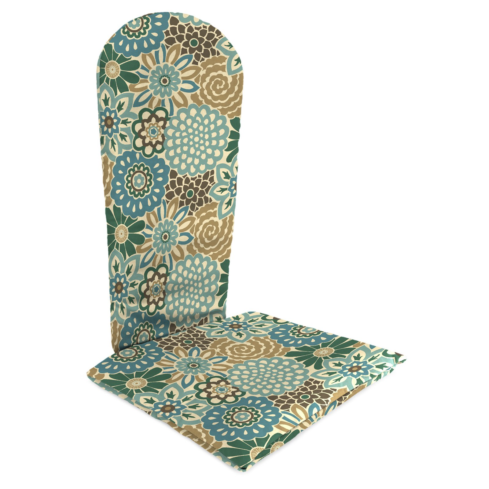 Jordan Manufacturing 49 in. Knife Edge Outdoor Adirondack Chair Cushion - Button Blooms