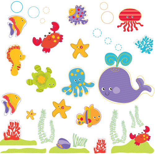 fisher price ocean wonders wall stickers walmart com funtosee fisher price animals of the rainforest room make