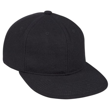 Otto Cap Melton Wool Square Flat Visor 6 Panel Pro Style Cap - Hat / Cap for Summer, Sports, Picnic, Casual wear and Reunion