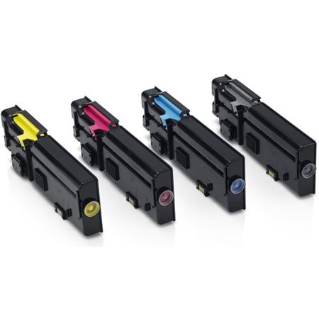 Dell C2660, C2665 Black and High Yield Color Toner Cartridge -