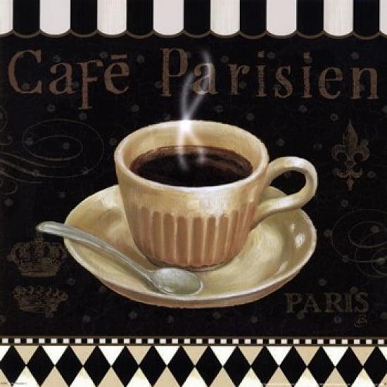 Cafe Parisien I Poster Print by Daphne Brissonnet (12 x 12)