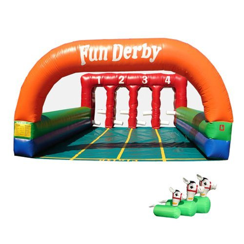 Kidwise Inflatable Derby 4 Lane Interactive Inflatable