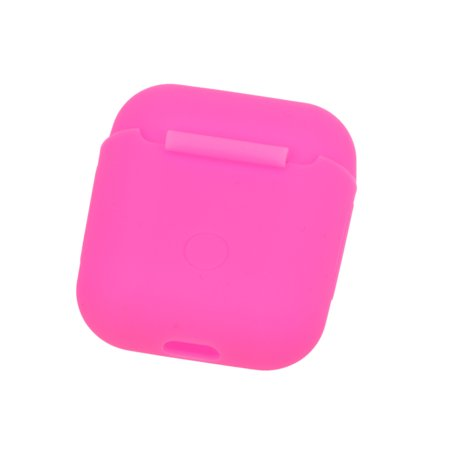 Silicone Headphones Case for Apple AirPods Wireless BT Headset Protective Storage Box Earphone Cover Pouch ()