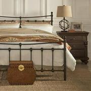 TRIBECCA HOME Xander Dark Brown Steel Metal Bed Full