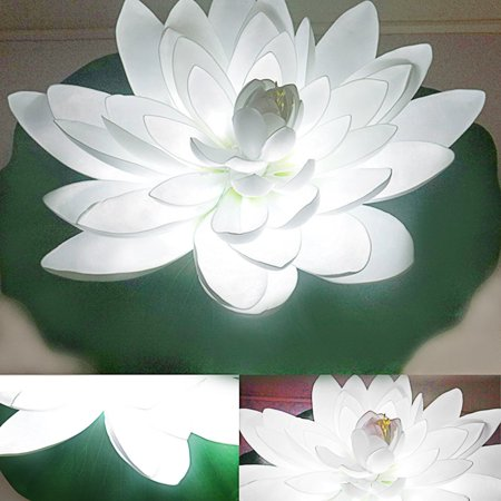 Led Lotus Flower Shape Colorful Garden Yard Fountain Water Float