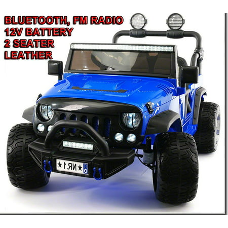 - 2019 EXPLORER 2 (TWO) SEATERS RIDE-ON CAR TOYS 12V ELECTRIC TRUCK FOR KIDS TODDLERS REMOTE CONTROL + (1 YEAR WARRANTY) | BLUE