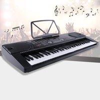 Uenjoy 61 Key Music Electronic Keyboard Electric Digital Piano Organ w/Power Supply /Microphone, Black
