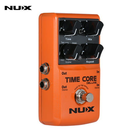 NUX TIME CORE DELUXE Electric Guitar Digital Delay Effect Pedal with 7 Delay Types 40s Loop Recording True Bypass ()
