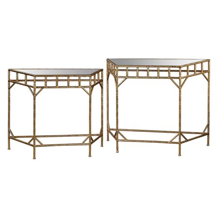 Sterling 2 Piece Mirror Top Nesting Console Table Set ()
