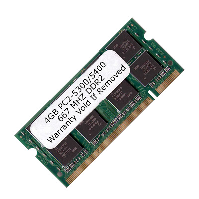 Komputerbay 4GB DDR2 SODIMM (200 pin) 667Mhz PC2 5400 / PC2 5300 FOR Apple  MacBook Pro MB166LL/A 4 GB