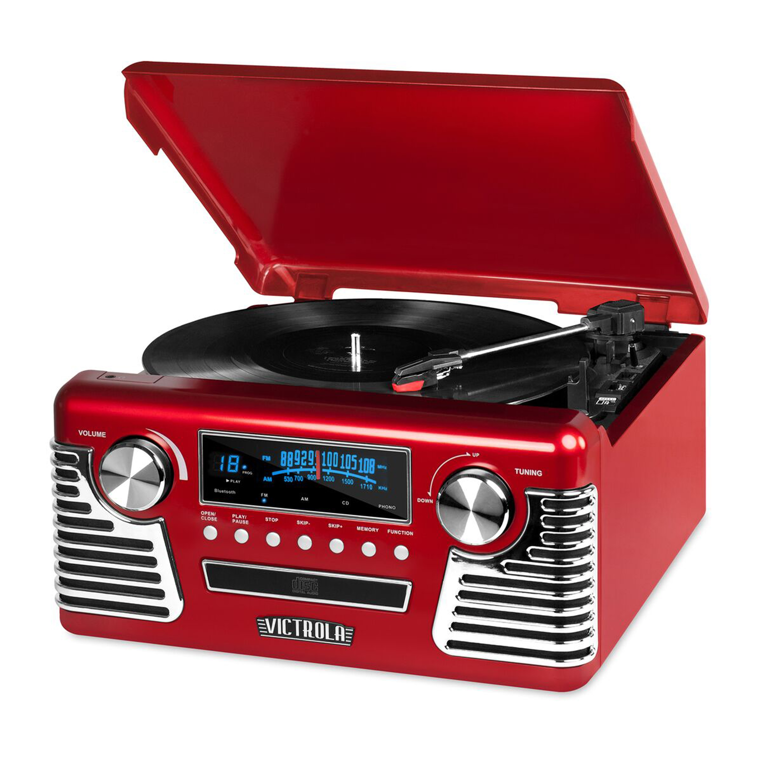 Classic 50's Style Stereo with Modern Technology Stereo Turntable with CD