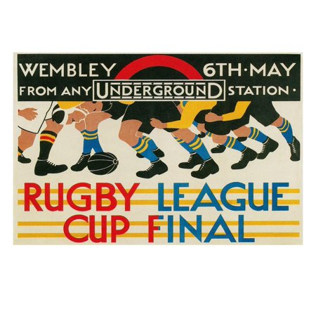 Rugby League Cup Final at Wembley Print Wall Art (Animal Print Rugby)