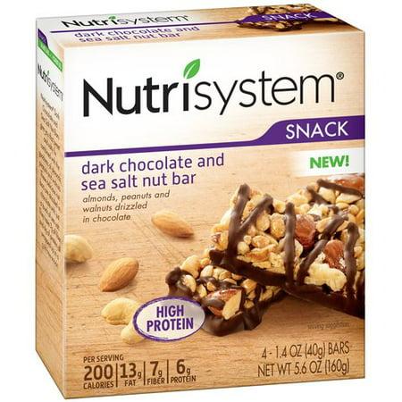 Nutrisystem Dark Chocolate And Sea Salt Nut Bars  1 4 Oz  4 Count
