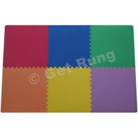 Get Rung Fitness Mat with Interlocking Foam Tiles for Gym Flooring. Excellent for Pilates, Yoga, Aerobic Cardio Work Outs and Kids Playrooms. Perfect Exercise Mat(COLOR, 264SQFT)