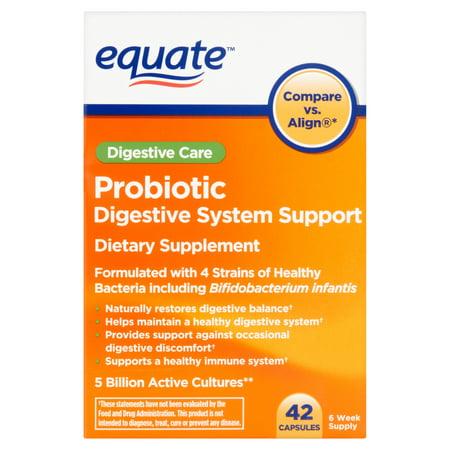 equate probiotique Système digestif support capsules, 42 count