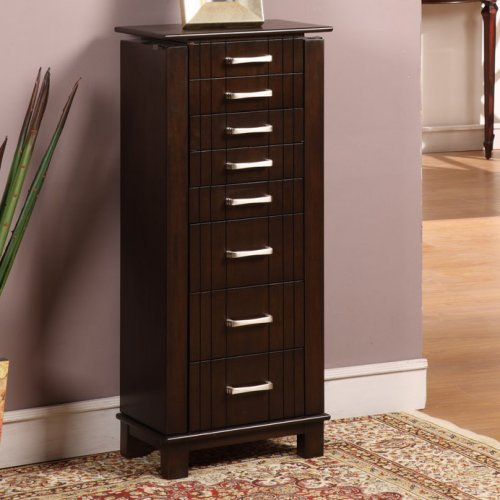St. Ives Jewelry Armoire - Mahogany Finish