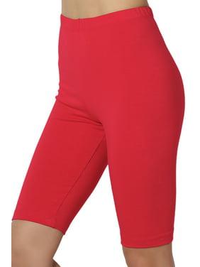TheMogan Women's S~3X Above Knee Stretch Cotton Active Bermuda Under Short Leggings