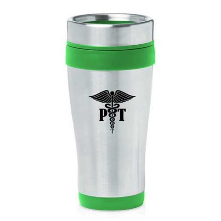 Green 16oz Insulated Stainless Steel Travel Mug Pt Physical Therapy