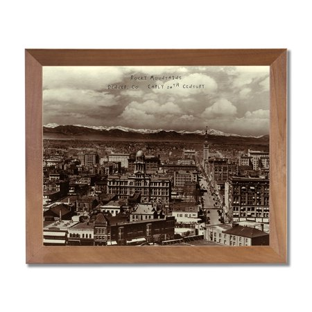 Denver Co  Rocky Mountains Photo In 1900 Wall Picture Honey Framed Art Print