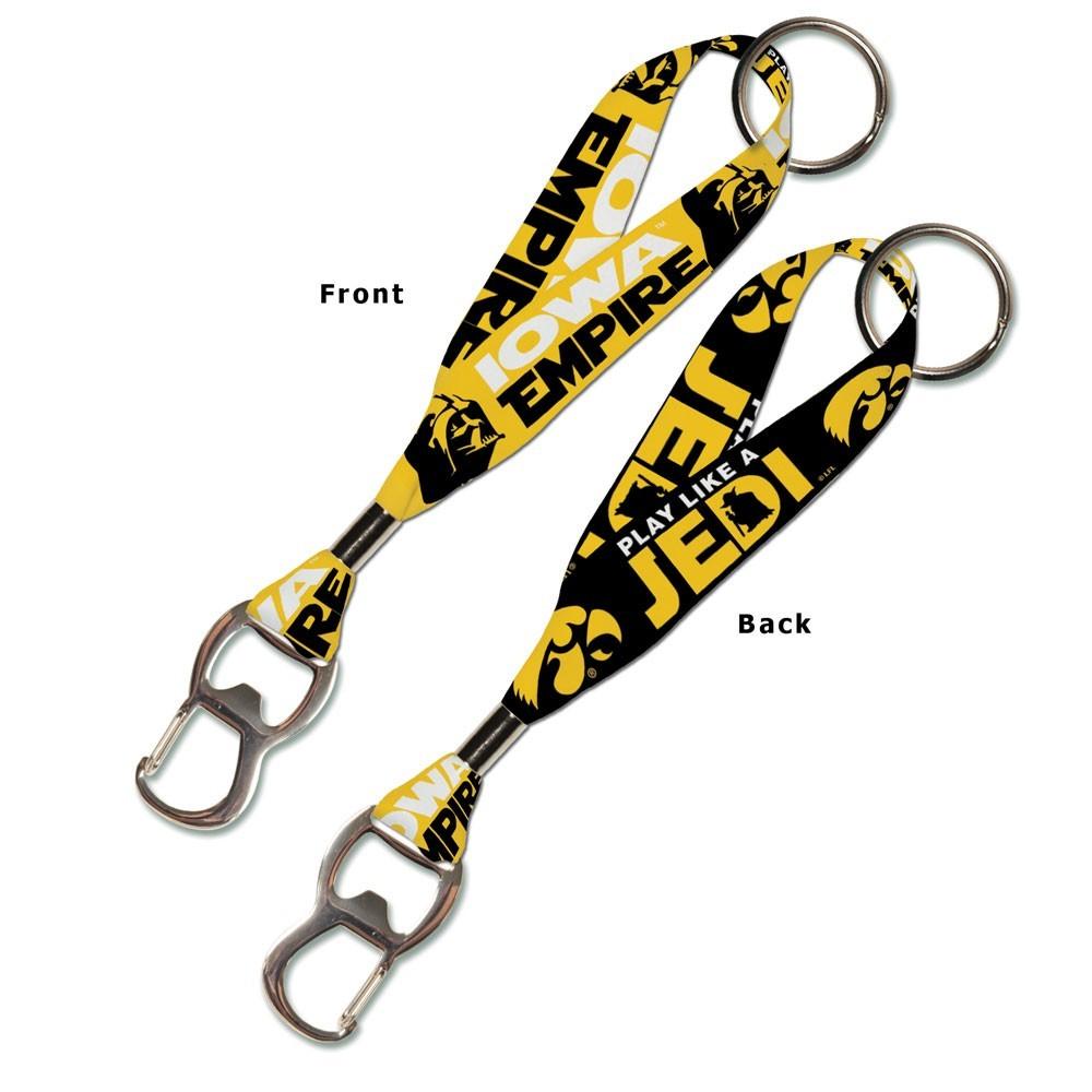 Iowa Hawkeyes Official NCAA 8 inch  Star Wars Lanyard Bottle Opener Key Strap Key Chain Keychain by WinCraft