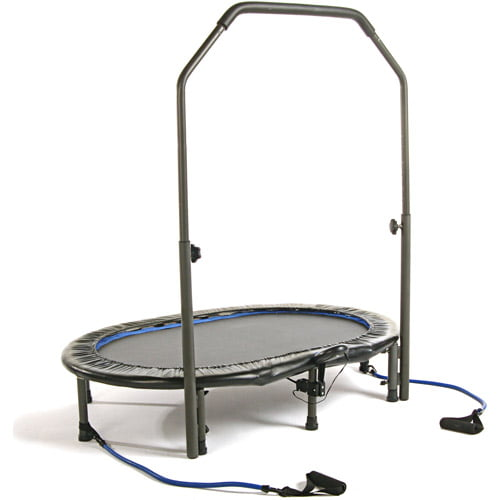 Stamina 55-Inch Trampoline InTone Oval Jogger, with Handlebar, Black by Stamina Products, Inc.