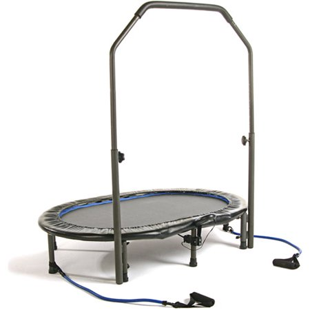 Stamina 55-Inch Trampoline In-tone Oval Jogger, with Handlebar, Black - low impact - cardio workout