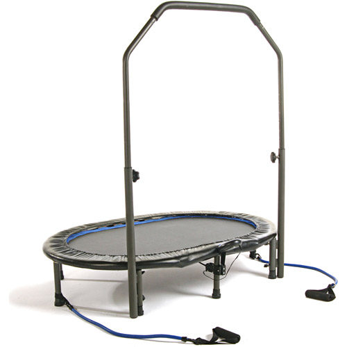 Stamina 55-Inch Trampoline InTone Oval Jogger, with Handlebar, Black