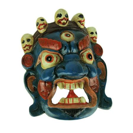 Nepalese Mahakala Tibetan Buddhism Wooden Wall Mask