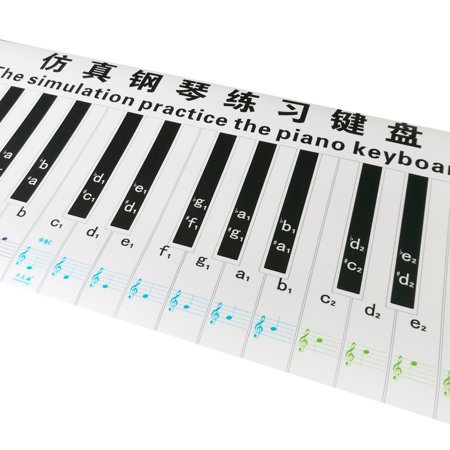 Professional Version 88 Key Keyboard Piano Finger Simulation Practice Guide Teaching Aid Note Chart for Beginner